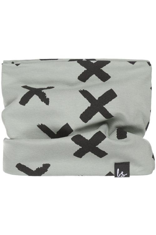 Painted cross sjaaltje (mosgroen)