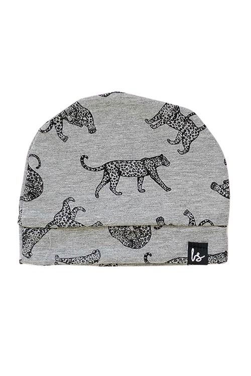 Cheeta mutsje (grijs)