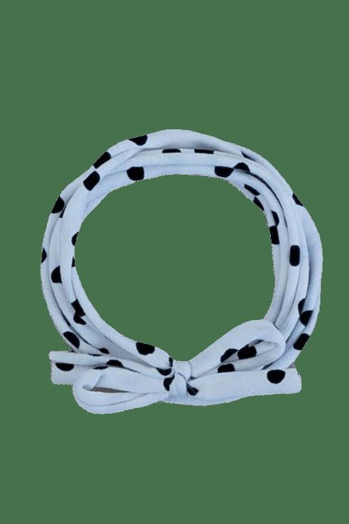 Knoophaarbandje stipjes wit