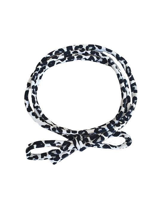 Knoophaarbandje leopard (wit)