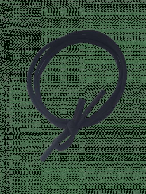 Knoophaarbandje zwart