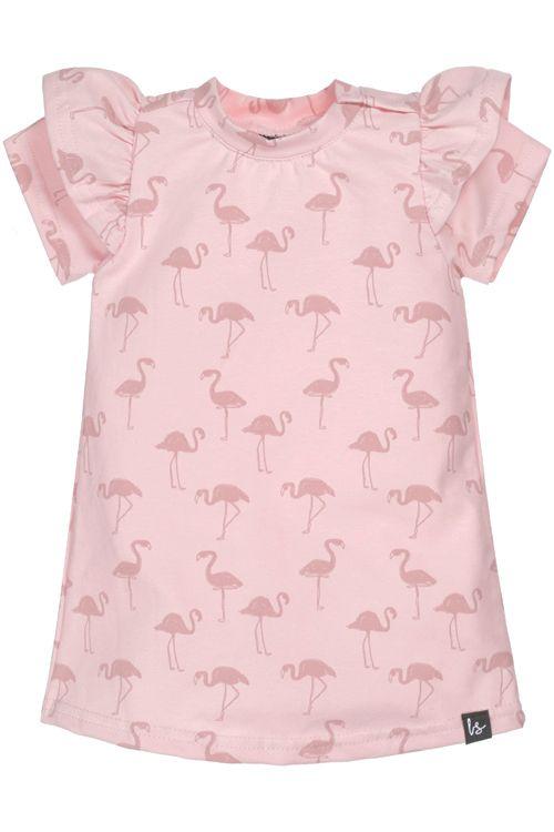 A-lijn jurkje flamingo (korte mouw)