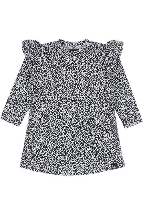 A-Lijn luipaard jurkje (wit)