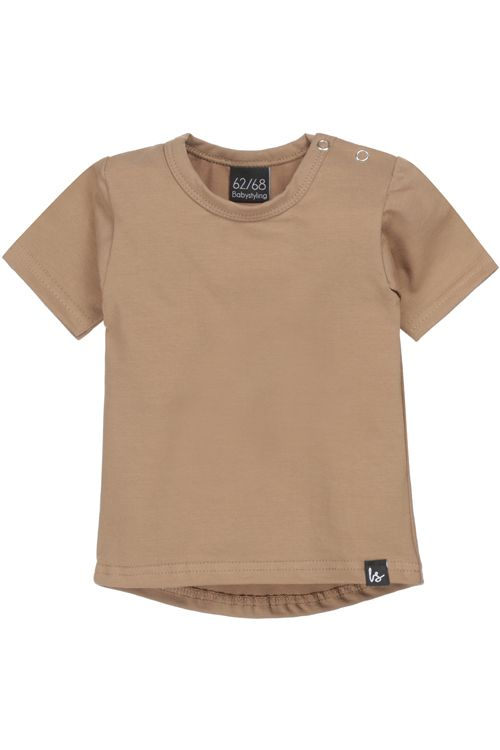 Taupe t-shirt (rounded back)