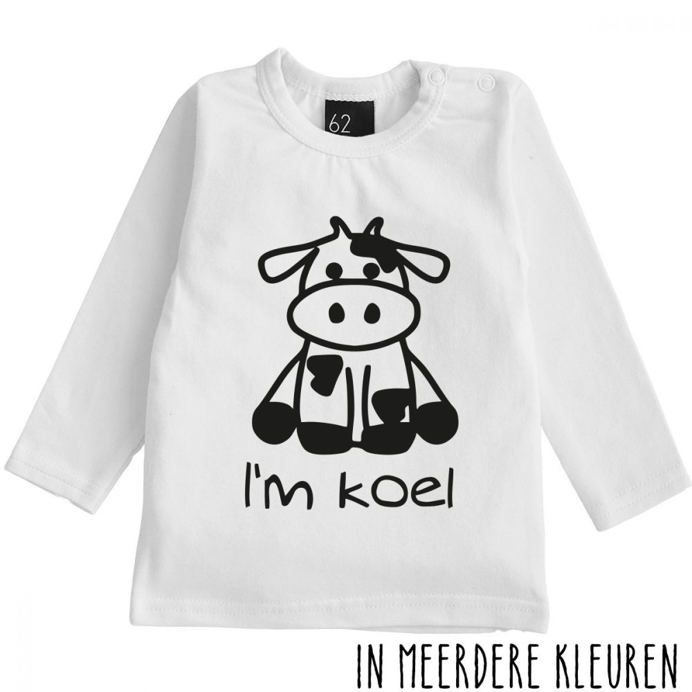 I' m koel longsleeve shirt Wit/Zwart