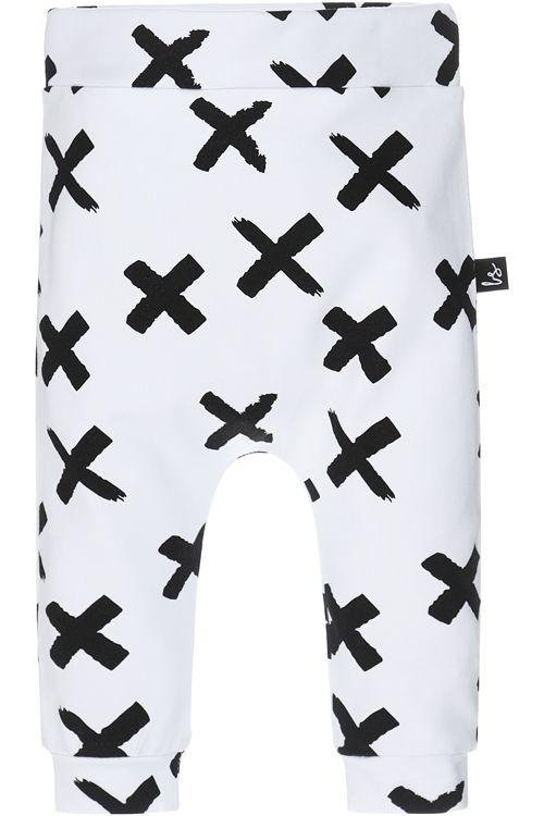 Painted cross broekje (wit)