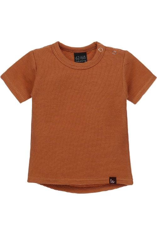 Rib t-shirt (rounded back) (roest)