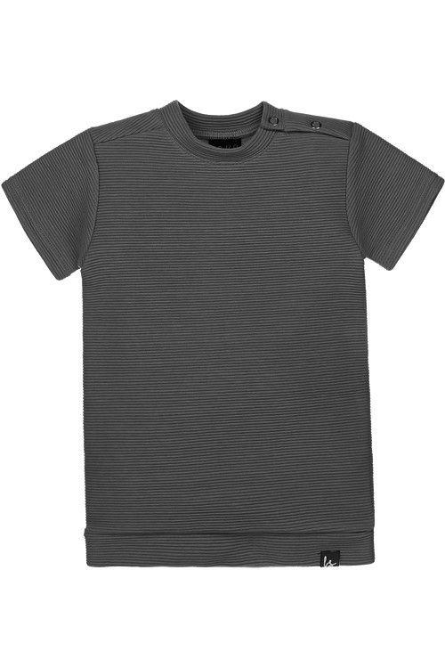 Rib tee-dress (grijs)