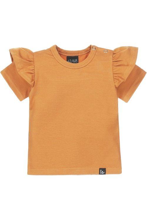 Ruffle t-shirt (camel)