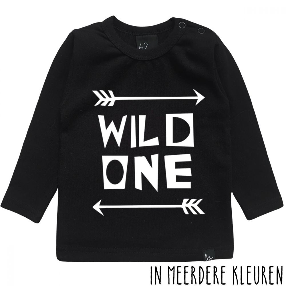 Wild one longsleeve shirt Zwart/Wit