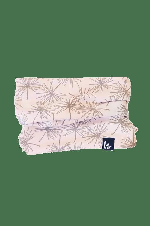 Wishflower sjaaltje (roze/lichtgrijs)