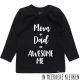 Awesome me longsleeve shirt Zwart/Wit