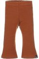 Flared pants rib roest