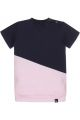 Mixed tee-dress (navi/roze)
