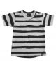 Painted stripes t-shirt (rounded back)