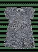 Ruffle leopard jurkje (wit) (korte mouw)
